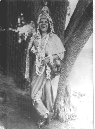 Anandamayi Ma incarnating Lord Krishna