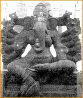 A rare image of Sri Vidya Ganesha - a female form of Ganesha