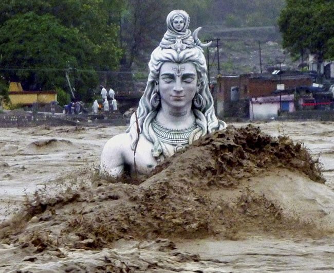 shiva in flood