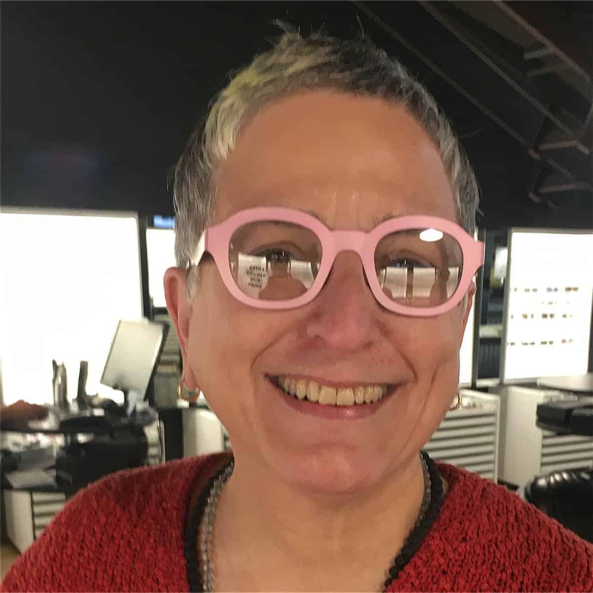 Shambhavi in pink glasses