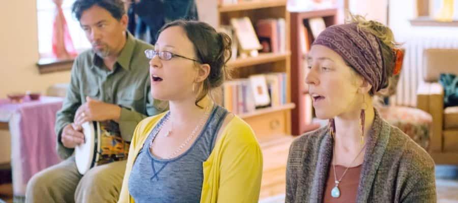 Singing Kirtan