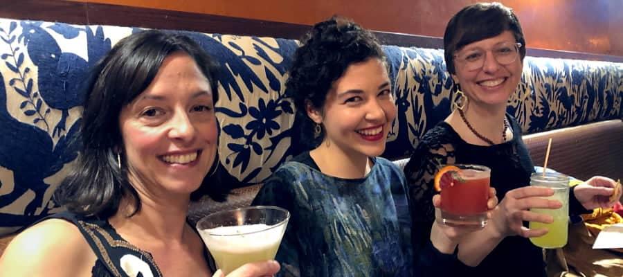 Three Women in a Restaurant